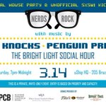 .@NerdsRockSXSW party features @theknocks, @penguinprison, & @tblsh! Invite-only: http://t.co/UjEbJDeDT2 #SXSW @uShip http://t.co/x6YJB5heeD