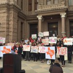 On Capitol steps, @WholeWomans Amy Hagstrom Miller: Well take fight vs TX abortion restrictions to SCOTUS #txlege http://t.co/ZVafZ8shhs