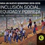 Este 3 de marzo no te pierdas el foro Inclusión social, equidad y pobreza que te traen @elcolombiano y #UPB @IEMR_UPB http://t.co/yunqHtKQgo
