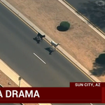 WATCH MORE: Llamas flee from police, cars in Sun City, Arizona http://t.co/LLptfAYtFz http://t.co/MRLbqbXp9L