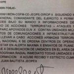 .@AlvaroUribeVel revela documento que advierte de posible fin de tregua de las Farc. http://t.co/nQR6n4D9Ny http://t.co/EIZZcyL3tB