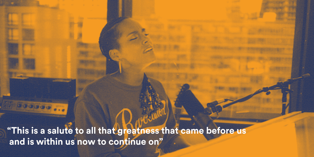 Powerful music! Listen to @aliciakeys's incredible playlist to honor Black History Month: http://t.co/5NjQwYrecG http://t.co/CIgOSlY0mh