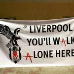 Besiktas banner for the game against Liverpool this evening. http://t.co/3QTLQXVvy4