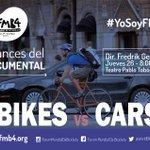 Acompáñanos esta noche en la presentación de los avances del documental Bikes vs. cars de Fredrik Gertten http://t.co/zkwI0PF3Mi