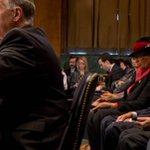 Lorenzo Lynch, (r) father of AG nominee Loretta Lynch, listens to comments before Senate Judiciary vote. http://t.co/c7TrL4qqba