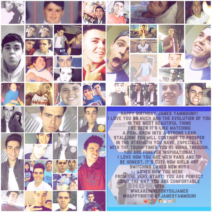 I\m backkk baby happy birthday, i hope you like my message to you and my edit ~ evolution of james