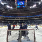 Morning skate is a go at MTS Centre! http://t.co/ubFG1Hb5Qr