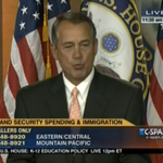 BREAKING: John Boehner blows kisses to the press, wont budge on DHS http://t.co/2FQBnWD3hD http://t.co/JBRkIbPACj