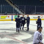 Tlusty chatting with Coach Paul Maurice following todays morning skate! http://t.co/g8kuzNYvP0