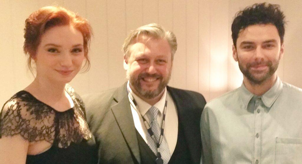 Lovely to talk with @AidanTurner & @ETomlinsonCom before the @PoldarkTV screening in Truro. Hear it on @BBCCornwall http://t.co/vie0rzJ6ya