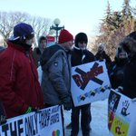 Students at rally to end racism today- from around Manitoba Teulon, Thompson, Little Saskatchewan Wpg #STARTwpg http://t.co/optlRVikD2