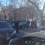 Wonder whats going on downtown right now? Hundreds of #Winnipeg students march against racism down Broadway http://t.co/N4DiHslQFF