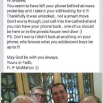 Do not bring your phone to Mass. Ever. http://t.co/pDcck4VnjS