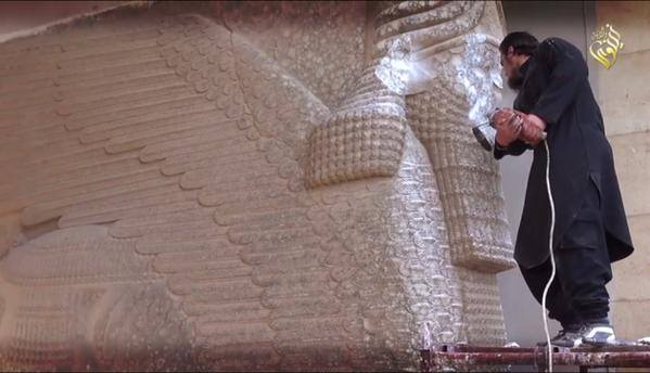 ISIS fascism destroying Assyrian cultural heritage in Mosul, thousands of years old. Lost for ever. #TwitterKurds http://t.co/HMPCNSf5eI