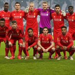 PHOTO: #LFC line up ahead of kick-off against Besiktas. http://t.co/v0pJoWEIFK