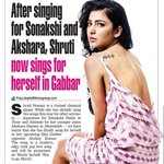 RT @priyaguptatimes: Shruti Haasan sings for herself in #Gabbar @shrutihaasan @akshaykumar http://t.co/BPsRTw43AF