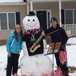 Who says you cant play instruments in the snow? #BulldogSnowman @LCABULLDOGS @LarrySeipp -Jordan & Alyssa Elliott http://t.co/UesaOgoZwj