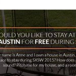 Need a place to stay for #SXSW2015? Check out @PitchMyHouse & WIN #SXSW lodging! http://t.co/aFUF5uob9Q #ATX http://t.co/em0ffAcDVN