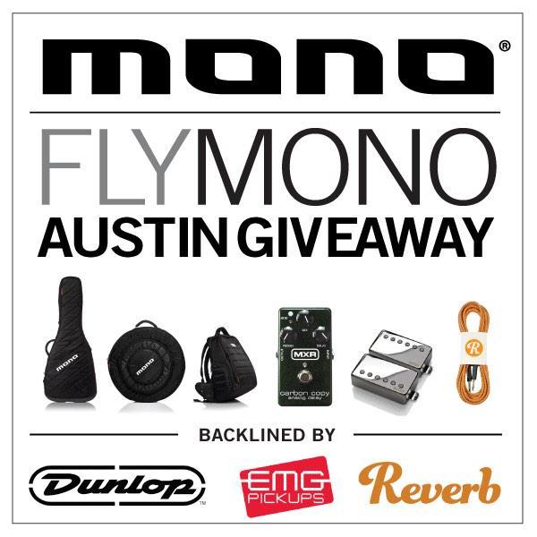 Flying to SXSW?  Enter To Win MONO, @EMG_PICKUPS, @reverbdotcom & @jimdunlopusa products. https://t.co/NmhFNLxYIq http://t.co/cAJiwjdQWI