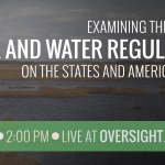 I am chairing a hearing NOW: Examining the effect of #EPA regulations. @GOPoversight LIVE : https://t.co/H2mgJgmp5X http://t.co/OAUqYnesmF