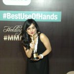 RT @MirchiSelfie: .@adtsinghsharma Feels great to win at the 7th #MMAwards #MeruSelfie #BestUseOfHands http://t.co/V78a0DghXC
