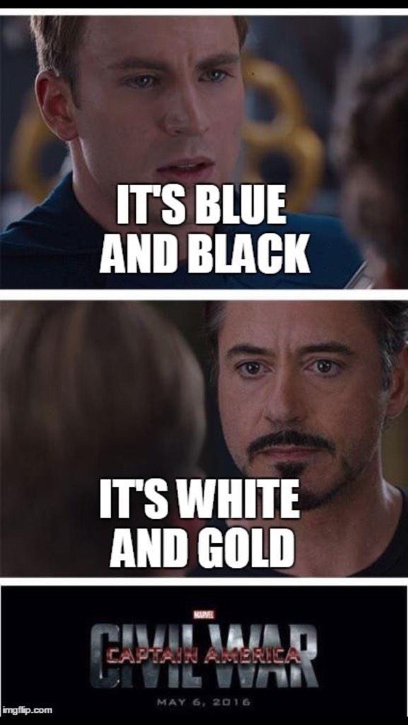 The memes are here #TeamWhiteAndGold http://t.co/5zZm7bqha4
