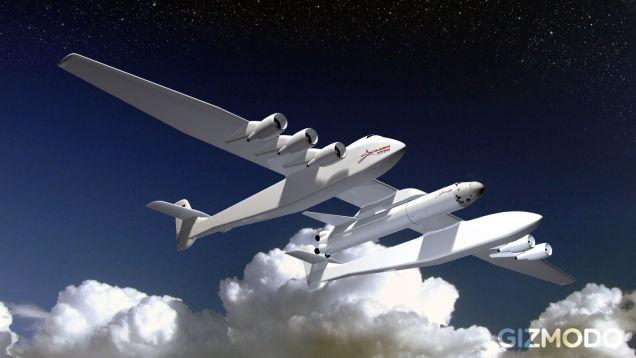 First pics of the world's largest plane, designed to carry & launch rockets in to space: