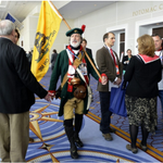 '1776 Man' is back at CPAC. And he's leading a walkout during Jeb Bush's speech. http://t.co/F7LN4j5kCb http://t.co/7NwCIZuIj7