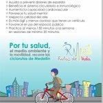 Por tu salud, el medio ambiente y la movilidad, recorre las ciclorrutas de Medellín @Metrosalud @Areametropol #FMB4 http://t.co/X5ljAV4U5y