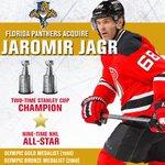 Welcome to the #FlaPanthers, Jaromir Jagr! #OneUnderTheSun http://t.co/nuBiN1mAkQ