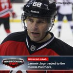 #TradeCentre: @FlaPanthers get Jaromir Jagr from @NHLDevils for 2nd rd pick, conditional 3rd. http://t.co/jOyf7zD1AN http://t.co/AoWUaExRsW