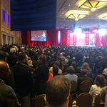 Crowds standing in the aisle for Walker http://t.co/KvSkQIXecE