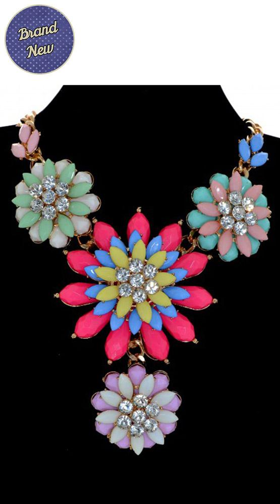 Emma from My Vintage (@emmabphilosophy): JUST ADDED: Large Chunky Multi Pastel Floral Statement Necklace £18 I LOVE IT! http://t.co/uv8E74JlHx http://t.co/ajG81o3Vbu