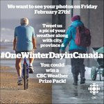Weather photos welcome all day tomorrow. Its the #OneWinterDayInCanada photo contest on Twitter #cbcmb http://t.co/fRThv5bWu1