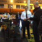 Wellington is the main repair shop for the #OrangeLine. Thanked the hard working #MBTA maintenance crews there. http://t.co/E2Xtx0nwMN