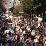 Aspecto de Av. Reforma cerrada en ambos sentidos. 9º #AccionGlobalporAyotzinapa http://t.co/GzjIjRifls / @c_mamahua http://t.co/7bCXm5sbEd