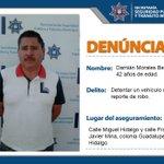 #Entérate Aseguramos a probable responsable de detentación de un vehículo que cuenta con reporte de robo. #Puebla http://t.co/BlP8QxnZIY