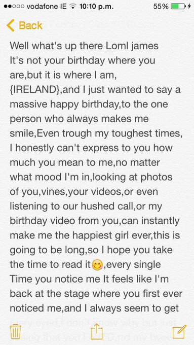 I don\t think I\ll be awake to wish you happy birthday so here\s my message early I love u so much