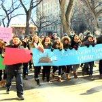 WATCH NEW VIDEO: Student-led anti-racism march hits downtown #Winnipeg streets. #cbcmb #racism http://t.co/gNqUTVFyFm http://t.co/X5i7s5jPEX