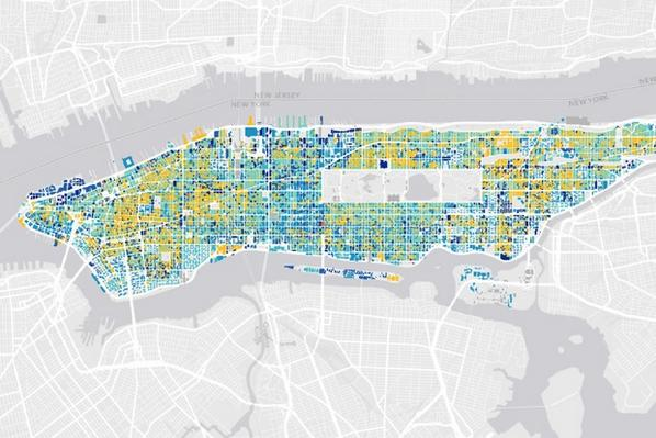 Mapping the Age of Every Building in Manhattan, block by block, since 1765: http://t.co/EjDe3y09h3 http://t.co/bK08wThAjH