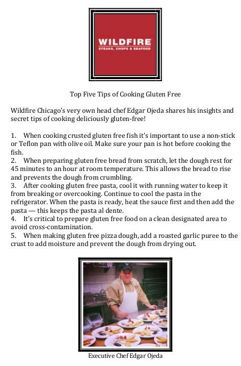 We're counting down to next week's #GlutenFree week at all IL locations with Chef Edgar's Top 5 Tips for Cooking #GF! http://t.co/IwtbShMH7f