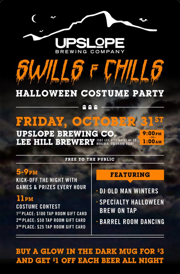 Not sure what to do this #Halloween? Check out @upslope's Swills & Chills Costume Party. Barrel room dancing included http://t.co/K8VfvRQw7W
