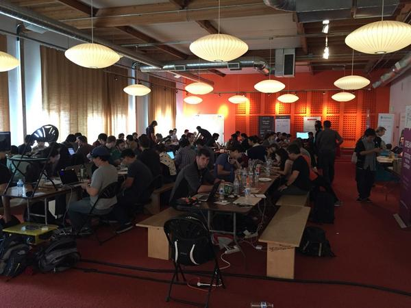 Wow! 200 hackers heads down at @ycombinator HQ. The @mashape ape is here. Ask for free APIs #producthunthackathon - http://t.co/FTyK9uOrnB