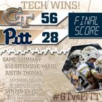Game summary for #GTvsPITT: http://t.co/77Opje4vXg