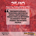 RT @jeanwyllys_real: Precisamos ampliar a democracia participativa. A pressão popular vai possibilitar uma reforma política. (ASCOM) http://t.co/Bgt96i1nWV