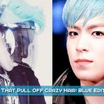 T.O.P handsome ^_^ RT @allkpop: 8 Male Idols That Pull Off Crazy Hair: Blue Edition http://t.co/5qIklYTWZ4 http://t.co/sIGlJFCRLK