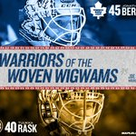The Warriors of the Woven Wigwams are Bernier and Rask. #TMLtalk http://t.co/b8fZz1iod9