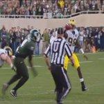 RT @BleacherReport: VIDEO: Michigan QB Devin Gardner throws a shovel pass directly to a Michigan State player http://t.co/7TLpCwmPtD http://t.co/CHRsEmxNEM
