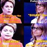 """@marisascruz: POIS É ELEITOR, PRESIDENTE SENDO CORRIGIDA AO VIVO #Aecio45Confirma http://t.co/AEVrdjVsar"" a #Dilma13 e meio burra ne??"