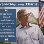 "RT @terrymaccormack: The @PatriotLedger backs @CharlieForGov - the ""right person at the right time for MA"" https://t.co/gu4pf6vEbP #mapoli http://t.co/yoONSKHHlB"